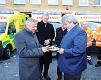 MVDr. Josef Řihák přio předávání nových vozů záchranné službě