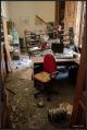 Úroveň zničení některých kanceláří je až zarážející. Jiné přitom zůstaly zcela netknuté,