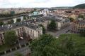 Kramářova vila: pohled z výšky na Strakovku