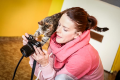 Herečka Andrea Kerestešová fotila v kočičím útulku