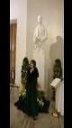 Petra Komárková na prezidentském plese: S bustou TGM. Vzpomínáte na České nebe? K této fotce se váže Petřina hláška Ať si kdo chce co chce říká, já mám ráda Masaříka!