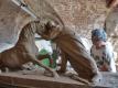 Práce na modelu pomníku jezdecké bitvy u Střezetic