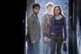 Daniel Radcliffe, Emma Watson a Rupert Grint, Harry a jeho přátelé, když v Bradavicích naopak končili
