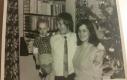 Klára Doležalová, s rodiči jako miminko