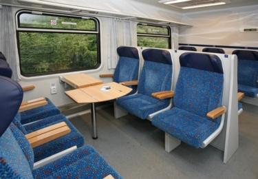 Moderní vlakové vozy Bbdgmee společnosti Českých drah