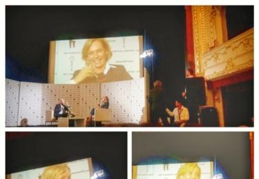 Uma Thurman v pořadu Na plovárně v Karlových Varech