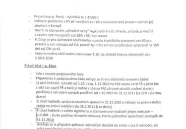 Zápis z porady Agrofertu, str. 4
