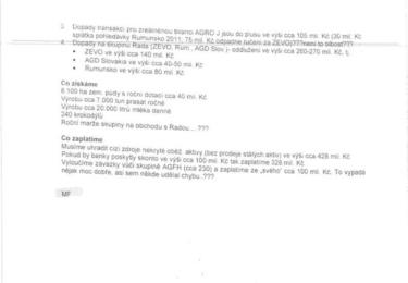Zápis z porady Agrofertu, str. 6