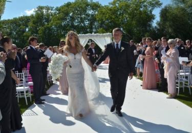 Novomanželé Monika a Andrej Babišovi
