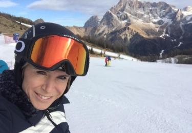 Katka je pořád velká sportovkyně, v zimě na lyžích