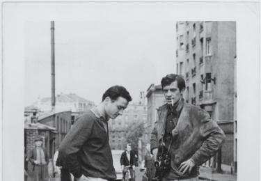 JPB na natáčení filmu Les Distractions, rok 1960