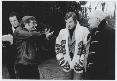 Na natáčení filmu Doktor Popaul s režisérem Claudem Chabrolem, rok 1972