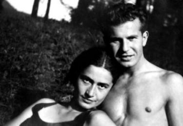 S první ženou Magdou Lokvencovou