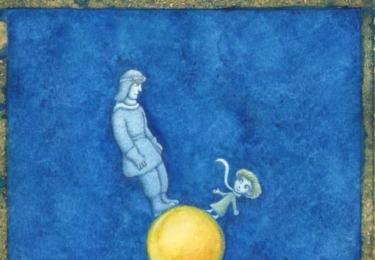 Ilustrace k Malému princi, nakonec se zrovna tato do knížky nedostala