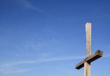 Dřevěný kříž na SKále