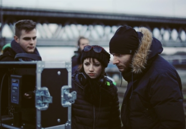 Tereza Nvotová při natáčení Špíny