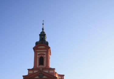 Barokní kostel a stará radnice