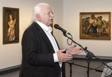 Knížákova výstava v karlovarské Galerii umění - dorazil sám Milan Knížák