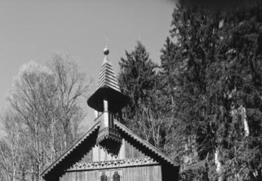 Dřevěná poutní kaple Panny Marie ze starých časů