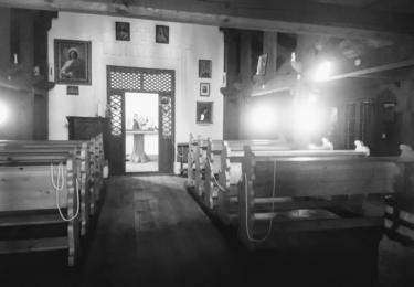 Vnitřek kaple za starých časů