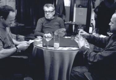 Miloš Forman s již dávno dospělými dvojčaty, bratry Formany, Matějem a Petrem