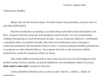 Otevřený dopis, odpověď Glasera (první část)