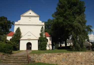 Gotický kostel Narození sv. Jana Křtitele v Krásné Hoře