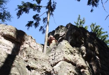 Na vrcholu Šéfovy skály