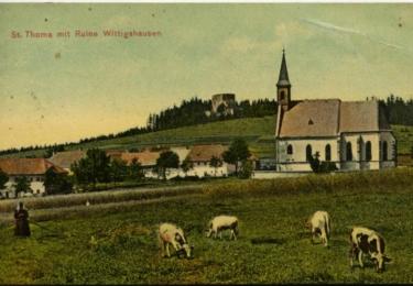 Z archivu: Vítkův hrádek na staré pohlednici