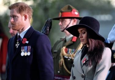 Harry a Meghan. Vojenská paráda