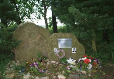 Památník sestřeleného amerického letce