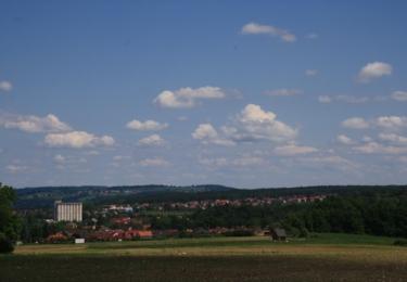 Pohled na Boršov od památníku