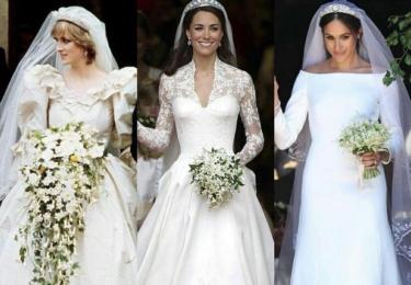 Na Twitteru se objevují mnohá srovnání, i fotky ze svatby královny Alžběty... Zde ale jsou tři poslední britské nevěsty: nešťastná Diana, Kate a Meghan. Soudě podle posledních dvou to s monarchií není špatné