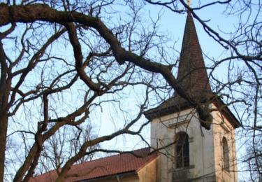 Kostelík, kam se chodil Fábera s dcerou modlit
