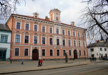 Škola v Novém Městě na Moravě. kde Pleva působil