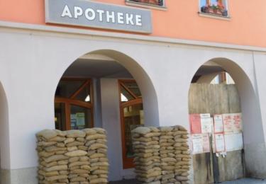 Z lékárny na rohu ulice Obránců míru se stala Apotheke