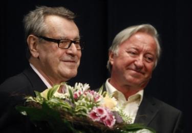 Miloš Forman a Jiří Lábus