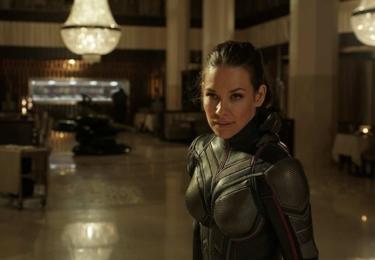 Nejlákavějším a nejočekávanějším odhalením filmu je představení Wasp, jehož prostřednictvím se na filmovém plátně a v samém centru dění filmového světa společnosti Marvel ocitá úžasná ženská superhrdinka.