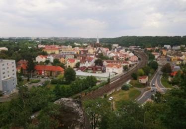 Kralupy nad Vltavou z Hostibejku