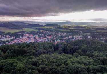 Česká Kamenice z vyhlídky Jehla