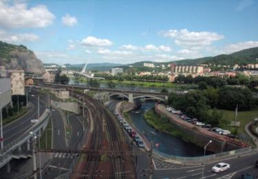 Ústí nad Labem pohledem z lanovky
