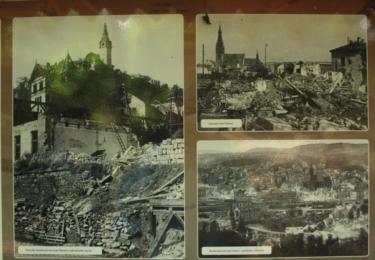 Ústí nad Labem po bombardování