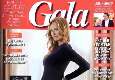 Francouzský časopis měl bříško zahalené...