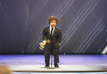 Ceny Emmy se odehrávaly 17. září v Microsoft Theater v Los Angeles, foto www.emmys.com / Facebook.  Na snímku oceněný Tyrion, Peter Dinklage