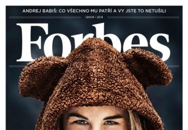 Ester Ledecká na titulce Forbesu