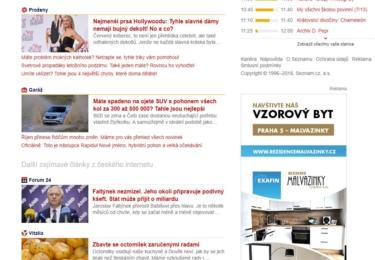 Samé Forum24, politicky  očividně ´vhodnější´. A hollywoodská ňadra a mokré kalhotky, hmmm. Printscreen z 9. 10., cca 15:00