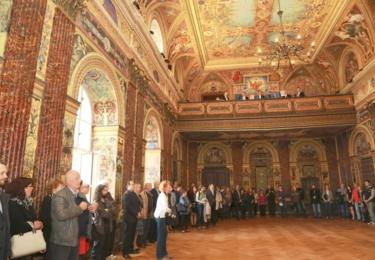 Slavnostnímu sálu Komenia se vrátila jeho původní krása z konce 19. století, foto Blanka Martinovská