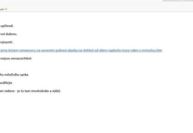 Odepsala jsem tedy, na e-mail tiskové mluvčí. Nějak se mi nelíbí, že nám ´redakce´ vzkázala,no, čtěte
