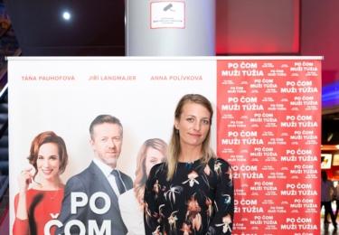 Anna Polívková na premiéře Po čem muži touží, foto Facebook