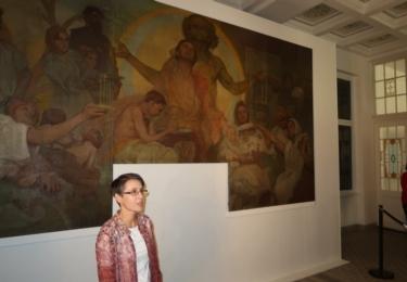 Historii obrazu přiblížila kurátorka výstavy Jitka Šrejberová